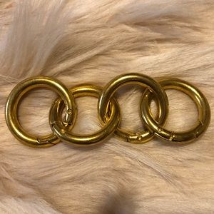 """Miche 1"""" Gold carabiners set of 4"""